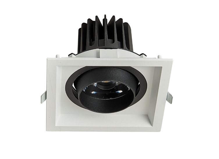 HLY-B51071C  全压铸深防眩单头格栅射灯