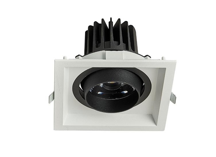 HLY-B51151C  全压铸深防眩单头格栅射灯