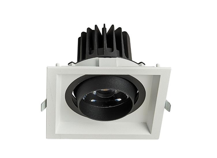 HLY-B51251C  全压铸深防眩单头格栅射灯